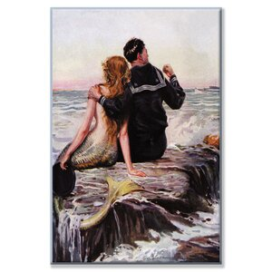 'Sailor and Mermaid' Painting Print on Wrapped Canvas by Breakwater Bay