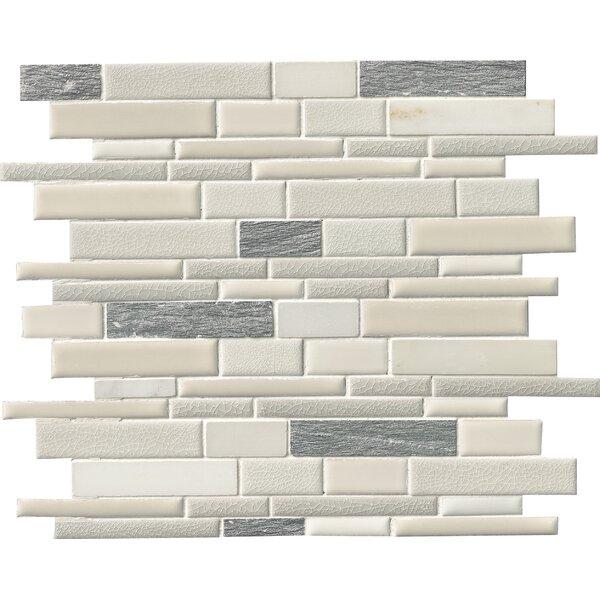 Everest Random Sized Porcelain/Stone Mosaic Tile in White by MSI