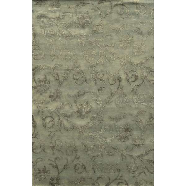 Trinidad Hand-Knotted Grey Area Rug by Meridian Rugmakers