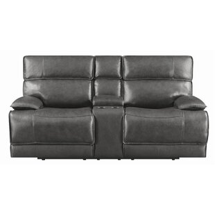 Caughfield Leather Reclining Loveseat