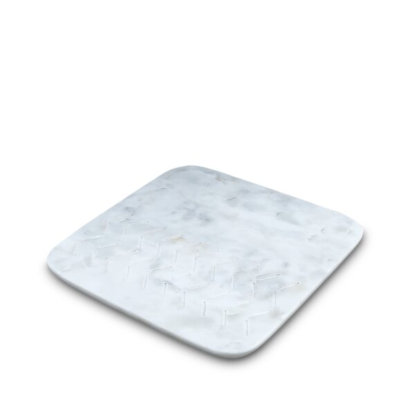 Hamler Marble Etched Arrow Trivet by Wrought Studio