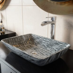 Best Price Glass Rectangular Vessel Bathroom Sink By VIGO