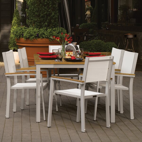 Farmington 7 Piece Dining Set with Stackable Chairs by Latitude Run