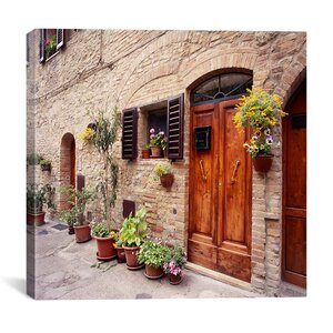 Flowers on the Wall, Tuscany, Italy 06 - Color by Monte Nagler Photographic Print on Canvas by iCanvas
