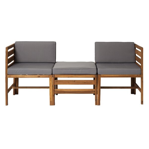 Dravin Patio Sofa with Cushions by Longshore Tides Longshore Tides