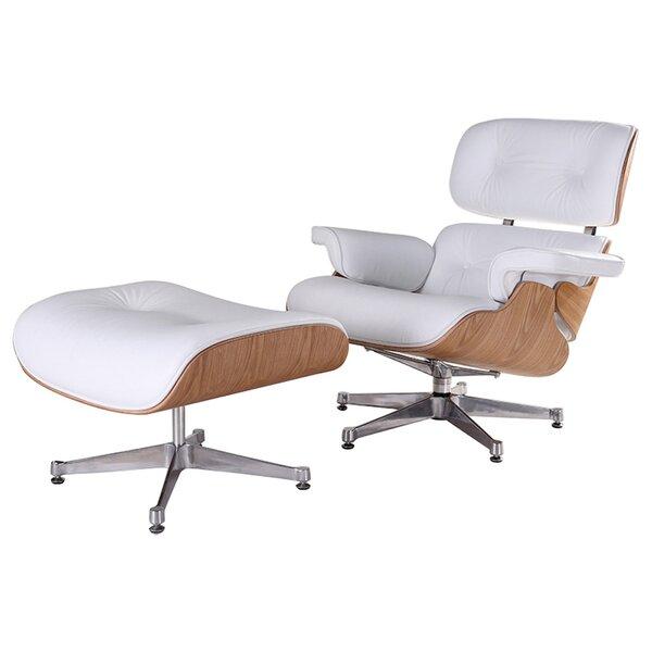 Albaugh Swivel Lounge Chair And Ottoman By Latitude Run