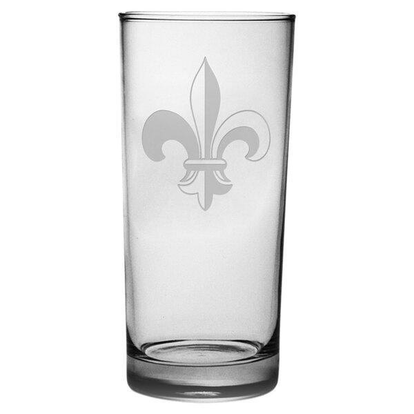 Fleur De Lis 15 oz. Highball Glass (Set of 4) by Susquehanna Glass