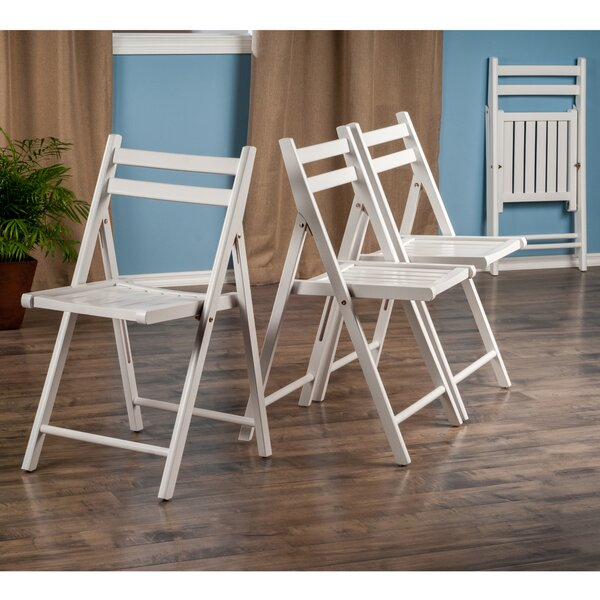 Robin Wood 4 Piece Folding Chair Set by Winsome