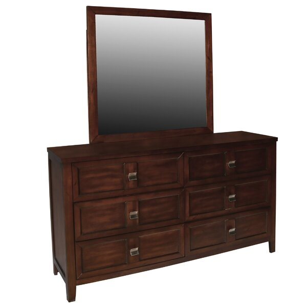 Dunkin 6 Drawers Double Dresser with Mirror by Winston Porter