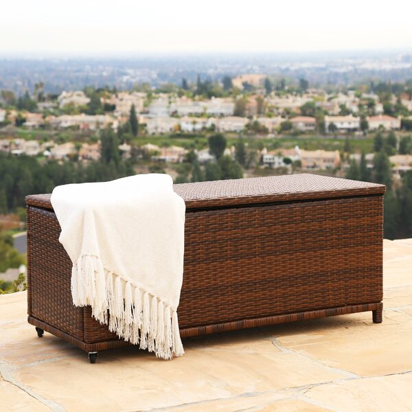 Lisette Outdoor Ottoman by Wade Logan