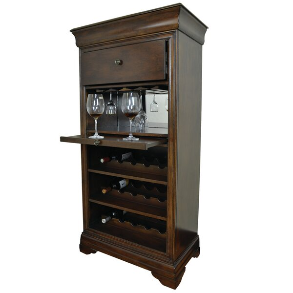 Silvia Bar Cabinet With 15 Bottle Wine Bar by Alcott Hill Alcott Hill