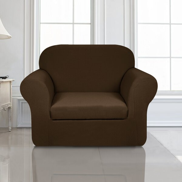 Knit Jacquard Box Cushion Armchair Slipcover By Winston Porter
