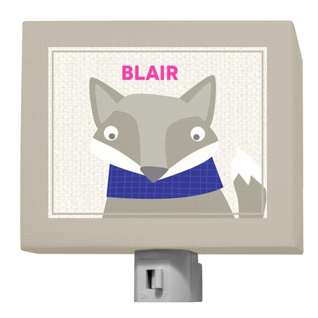 Oopsy Daisy Happy Fox Blair Night Light by GreenBox Art