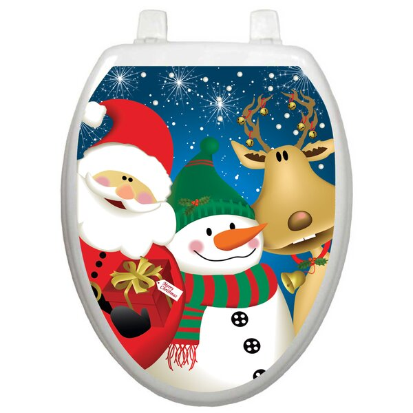 Holiday 3 Christmas Times Toilet Seat Decal by Toilet Tattoos