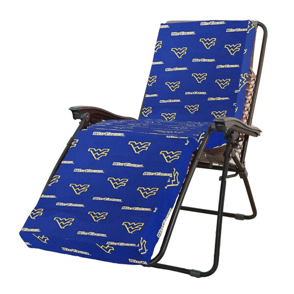 NCAA West Virginia Indoor/Outdoor Chaise Lounge Cushion By College Covers