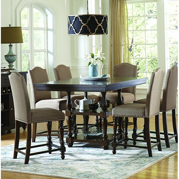 Rosalee 7 Piece Counter Height Solid Wood Dining Set by Astoria Grand
