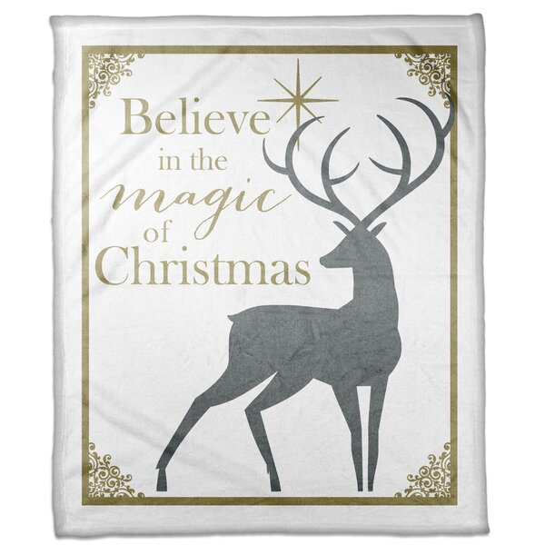 Worth Believe in the Magic of Christmas Blanket by The Holiday Aisle