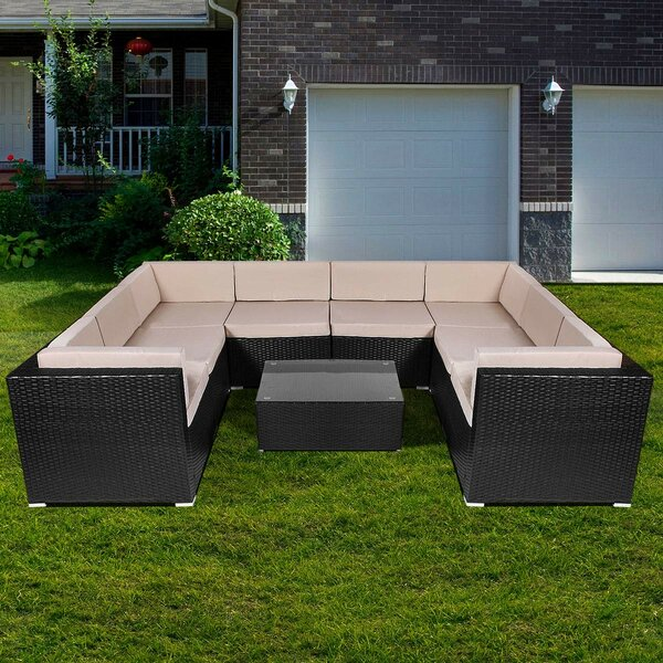 Crugers 9 Piece Sectional Seating Group With Cushions By Ebern Designs by Ebern Designs Today Sale Only