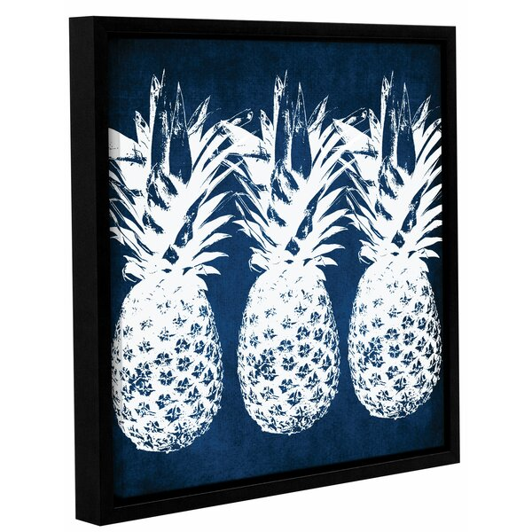 Indigo Pineapple Framed Graphic Art by Bay Isle Home