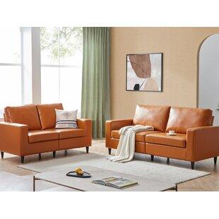 2 Piece Faux Leather Living Room Set by Corrigan Studio®