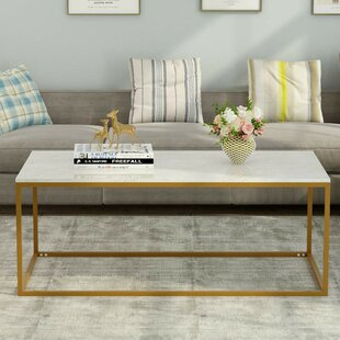 Check Prices Werner Marble Top Coffee Table By Mercer41