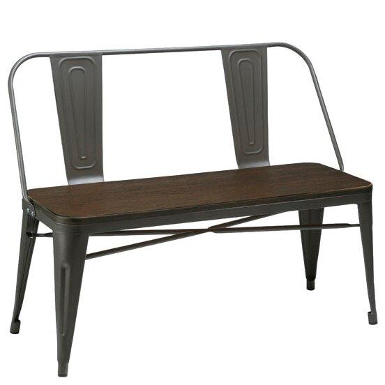 Peetz Metal Bench by Trent Austin Design Trent Austin Design