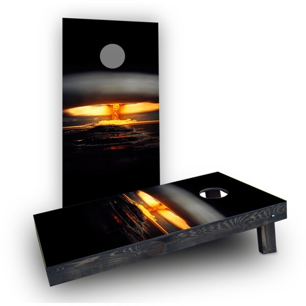 Nuclear Bomb Explosion Cornhole Boards (Set of 2) by Custom Cornhole Boards