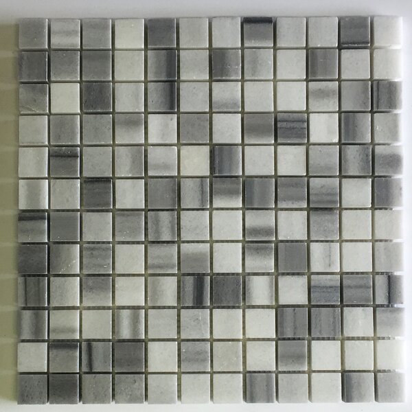 Equator Square 1 x 1 Marble Mosaic Tile in Gray by Seven Seas