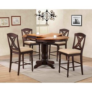 Butterfly Back Upholstered Counter Height 5 Piece Pub Table Set by Iconic Furniture