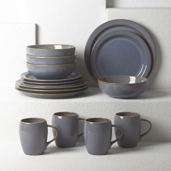 Haldan 16 Piece Dinnerware Set, Service for 4 by Dansk