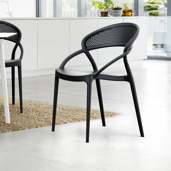 Auman Stacking Patio Dining Chair (Set of 2) by Wrought Studio