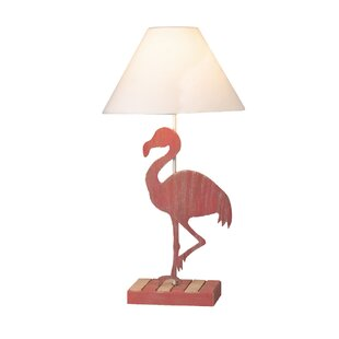 Savings Middleburg Flamingo Wood 28 Table Lamp By Bay Isle Home