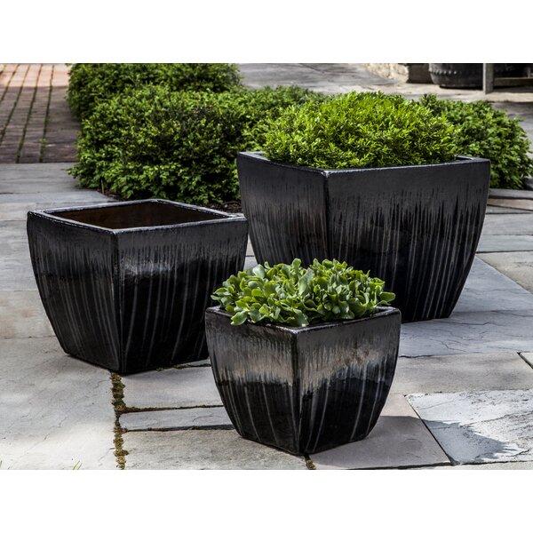 Almeida 3-Piece Handmade Terra Cotta Pot Planter Set by Bloomsbury Market