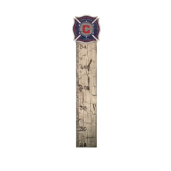 Chicago Fire Soccer Sign Growth Chart by Fan Creations