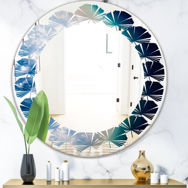 Leaves Agate Beautiful Slices and Texture Coastal Frameless Wall Mirror