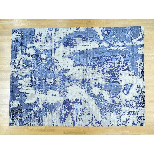 One-of-a-Kind Cephas Abstract Design Handwoven Wool/Silk Area Rug by Isabelline