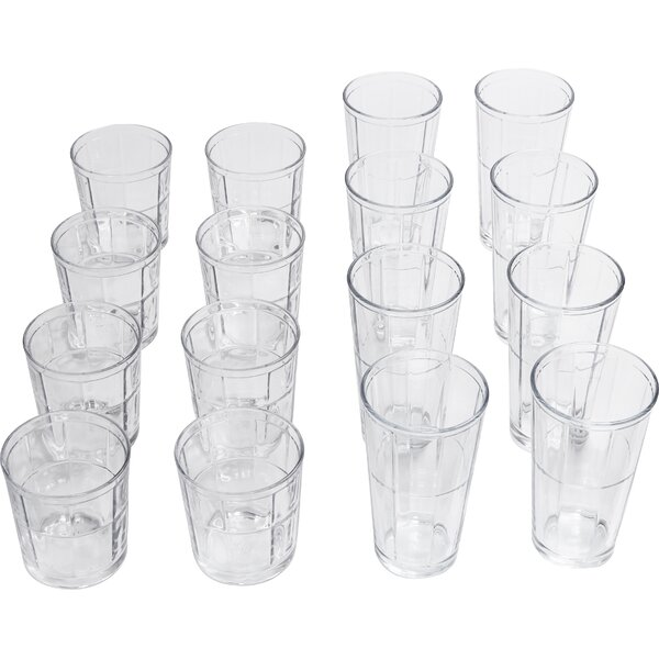 Pavillion 16 Piece Entertaining Glassware Set by Circle Glass