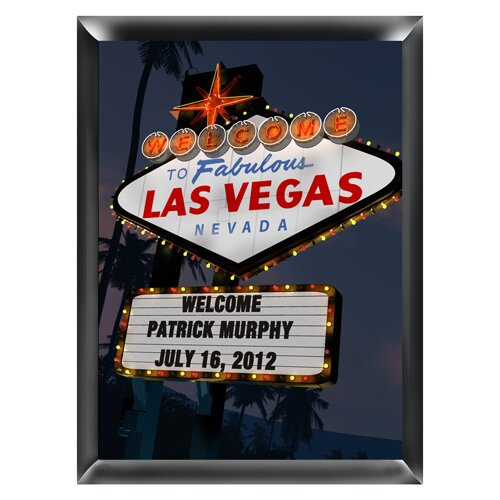 Personalized Gift Vegas Marquee Traditional Framed Photographic Print by JDS Personalized Gifts