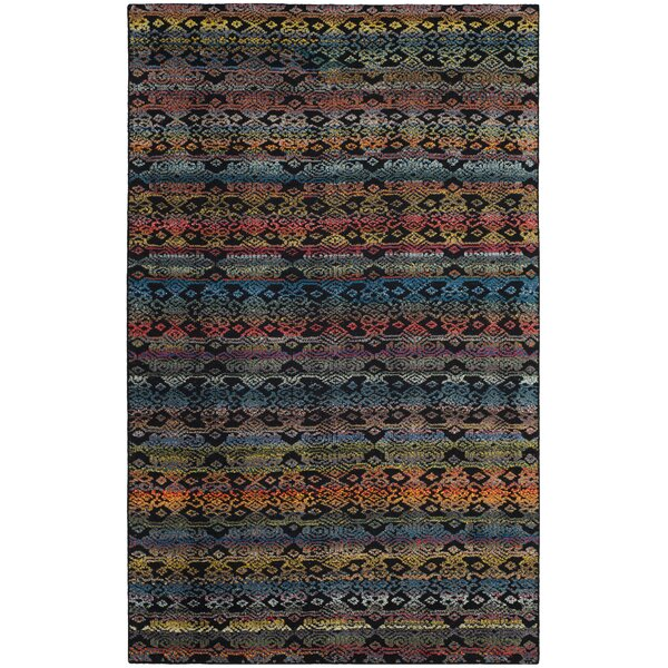 Moyer Hand Tufted Black Area Rug by Bloomsbury Market