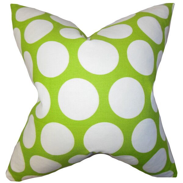 Dilly Geometric Cotton Throw Pillow by The Pillow Collection