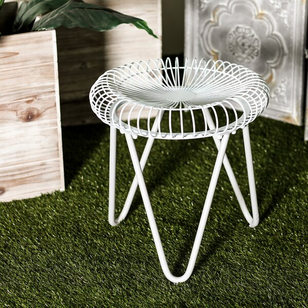 Gilpin Contemporary Round Iron Garden Stool by Bungalow Rose