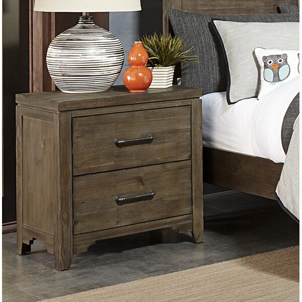 Saucedo 2 Drawer Nightstand by Union Rustic