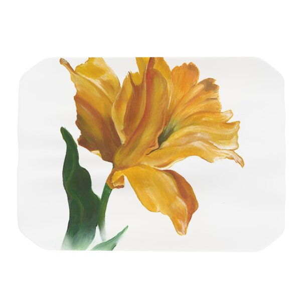 Yellow Tulip Placemat by KESS InHouse