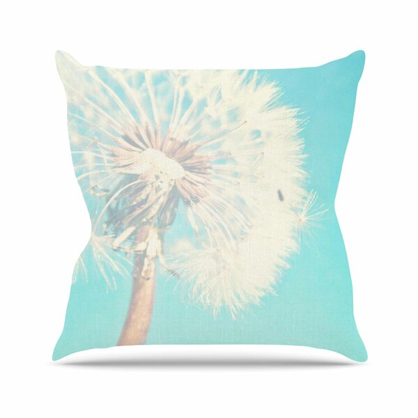 Sylvia Coomes Dandelion Photography Floral Outdoor Throw Pillow by East Urban Home