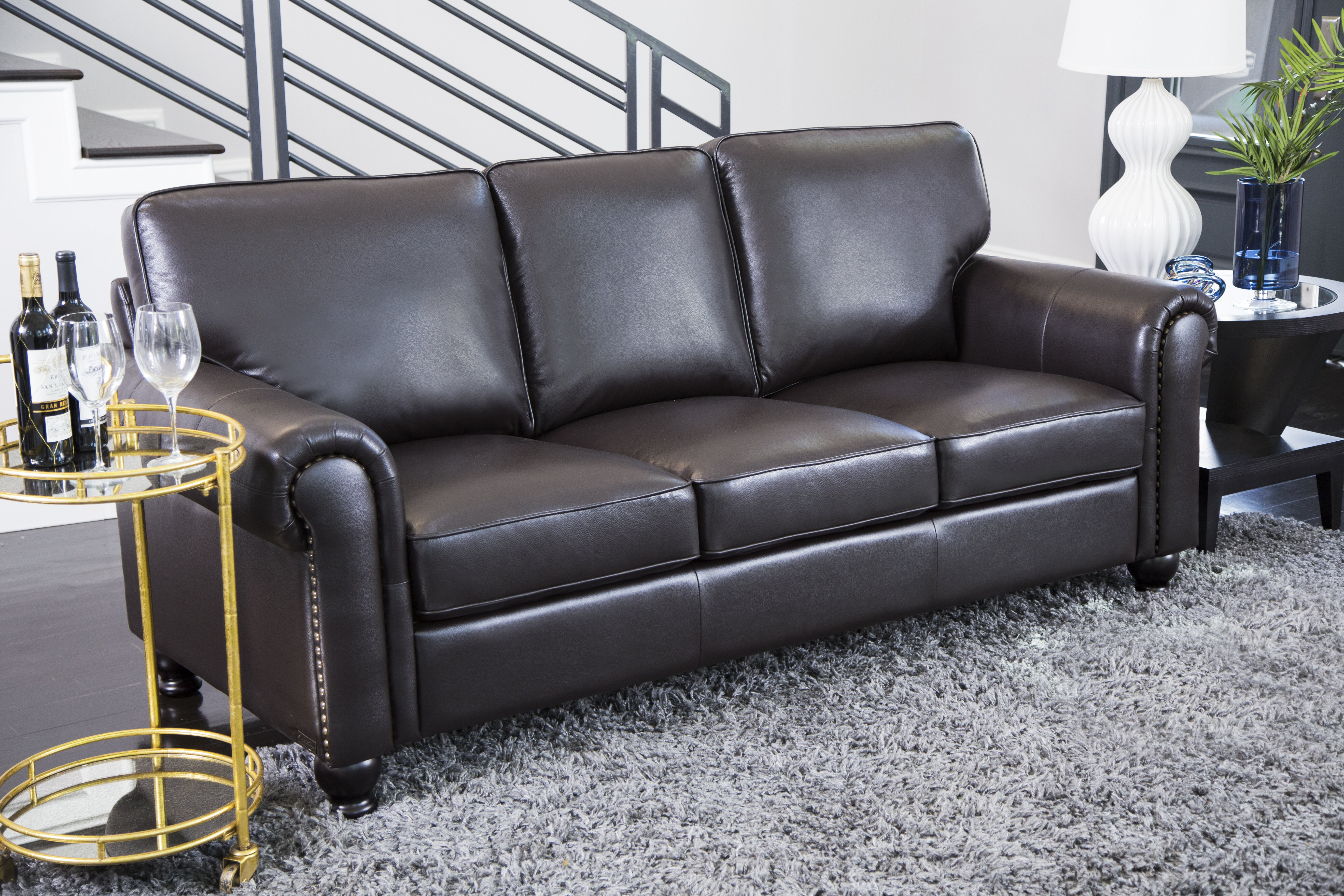 Delightful Darby Home Co Coggins Genuine Leather Sofa U0026 Reviews | Wayfair