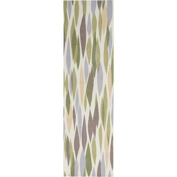 Egypt Power Loom Green/Violet Rug