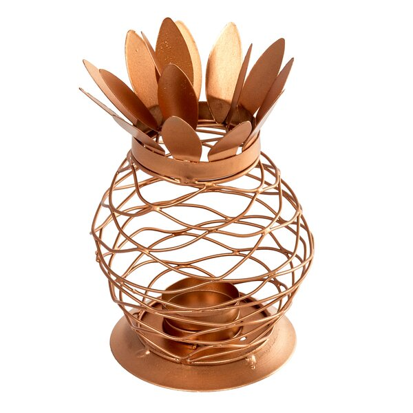 Pineapple Metal Votive Holder by Bay Isle Home