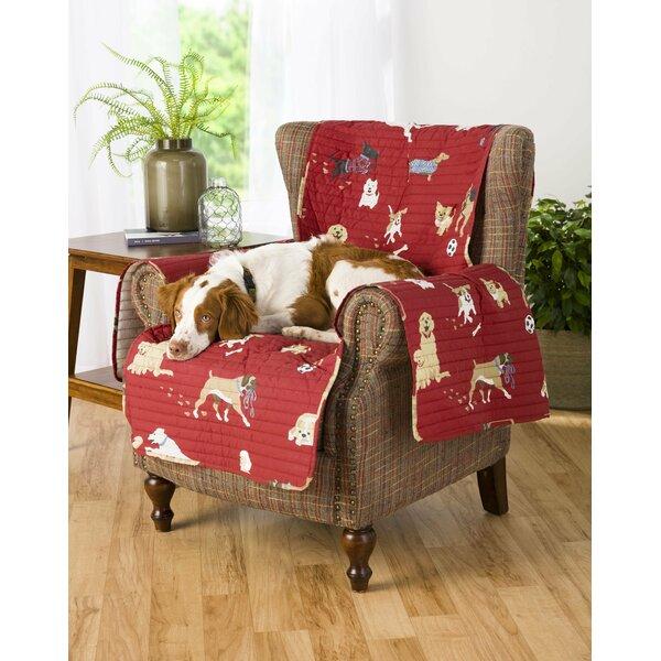 Dog Park Box Cushion Armchair Slipcover by Plow & Hearth