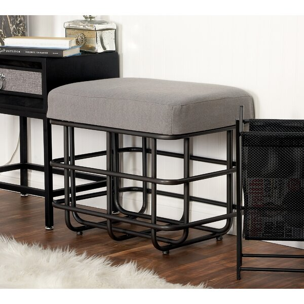 Metal Fabric Accent Stool by Cole & Grey