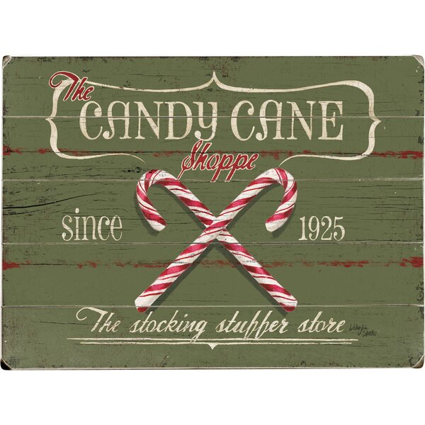 Candy Canes Graphic Art Print Multi-Piece Image on Wood by Artehouse LLC